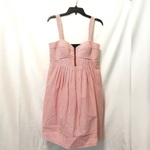 Red Pinstripe Dress | Jessica Simpson